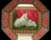 Pomeranians Decoupage Plate