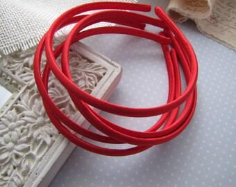 Cherry Tart . satin headbands . girls hair accessory . red