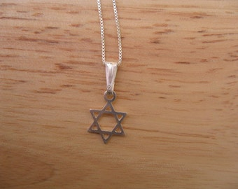 Star Necklace, Little Dainty Star of David Necklace for Men or Women
