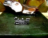 TRAIN Tie Tack Sterling Silver Free Shipping