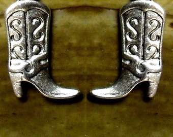 Cowboy Boots Cufflinks In Solid Sterling Silver Free Domestic Shipping
