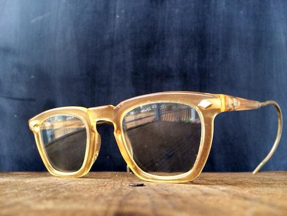 Mens Hipster Eyeglass Frames : Mens Eyeglasses Military Issue Hipster Nerd Eyewear