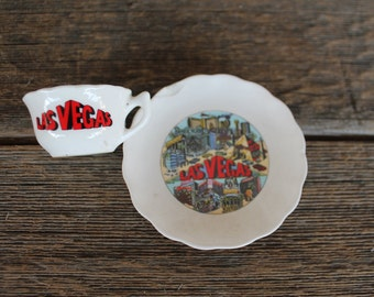 Petite Vintage Souvenir Tea Set, Las Vegas
