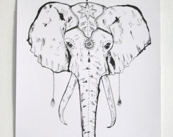 A3 Circus Elephant Screen Print *ON SALE*