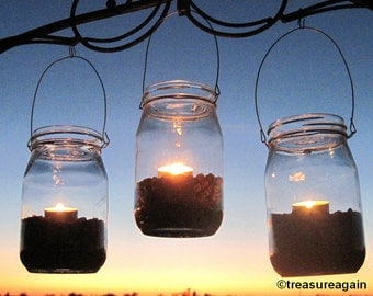 DIY Lanterns WIDE Mouth Mason Jar Hangers, Ball Jar Lantern Hangers Only, 6 or More, No Jars