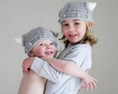 Childrens Viking Helmet with Horns Toddler Hat - AandBDesignStudio