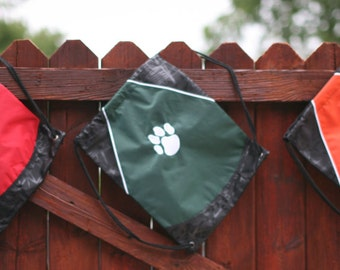 Cinch Bag personalized with embroidery just for you!   Perfect for the on-the-go mom, student, teacher, athlete!