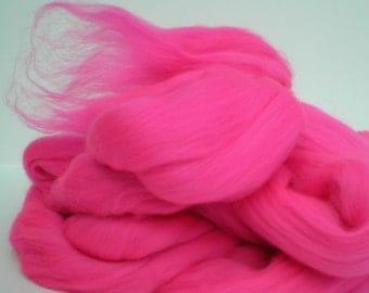 "Ashland Bay Solid Colored Merino for Spinning or Felting ""Magenta""  4 oz."