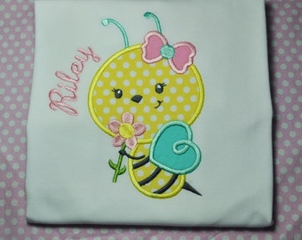 Monogrammed Personalized Honey Bee Shirt