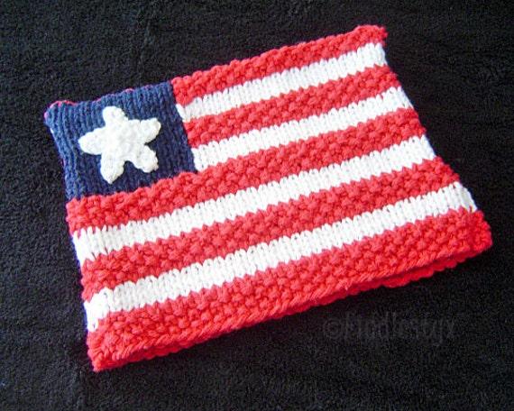 Knitting Pattern Us Flag : Knitting Pattern - American Flag Hat Pattern - Hat Knitting Pattern - the BET...