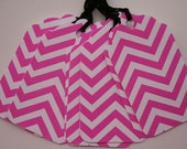 Pink and White Chevron Gift Tags (10)