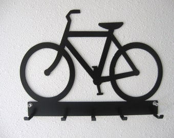 Bicycle Key Belt Rack Metal Wall Hanging