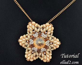Tutorial Franzia Pendant - Beading Pattern, PDF, Jewelry tutorials, Instant download