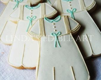 Boys' Christening Gown Cookies (1 Dozen)