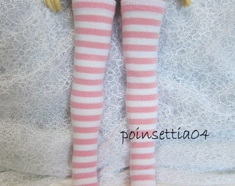 Mini Dollfie Dream MDD Super Dollfie MSD Pink White Stripe Socks