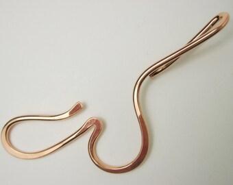 "Copper ""W"" Shawl Pin"