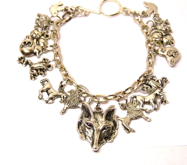 fox bracelet silver fox jewelry animal jewelry animal totem