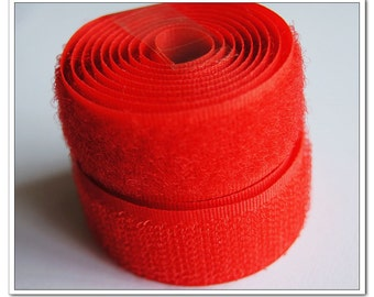 2 yards 20mm red Sew on Velcro Hook & Loop Tapes