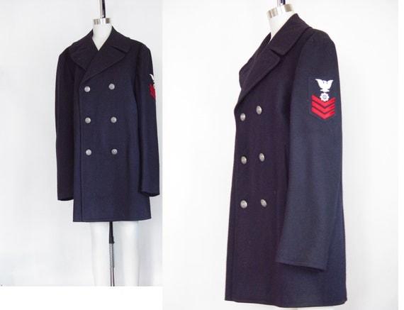 navy issue pea coat