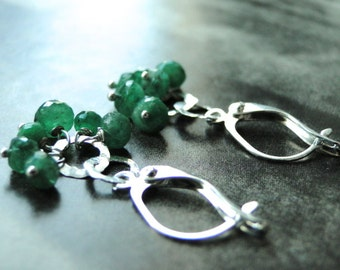 SALE Emerald Earrings, Statement Earrings, Jewelry, Dangle Earrings, Gift for Her, Accessories, Spring Collection, Gift Box