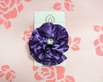 Dark purple flower hair clip