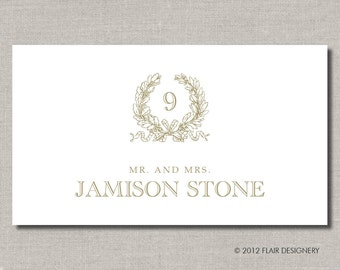 Kate Collection Place Cards - Set of 100 - Any Color for Weddings, Parties, Events and more by Abigail Christine Design