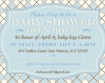 Argyle Baby Shower Invitation