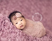 Mauve Stretch Lace Wrap Newborn Photography Prop Baby Swaddle