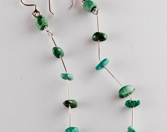 Droplets of Turquoise Earrings
