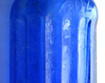 Beautiful COBALT BLUE Rexall / United Drug Co. antique POISON bottle U. S. A.