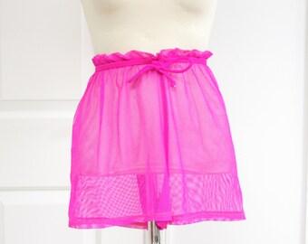 90s Pink Mesh Shorts High Waisted Small Medium Athletic Raver Club Kid
