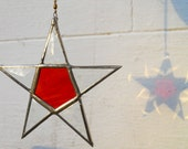 Burnt Orange Stained Glass Star