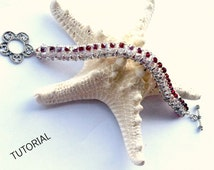 Sweet Lavender bracelet pattern tutorial- beadwork- crystals superduo and seed beads
