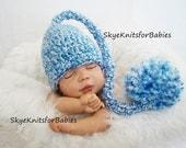 Crochet Baby Elf Hat, Newborn Elf Hat, Baby Hat, Newborn Stocking Hat, Baby Boy Hat, Baby Girl Hat, Newborn Photography Prop