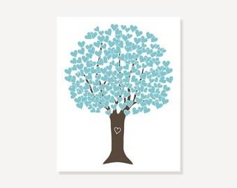 Gift Love Tree Picture - Wedding Anniversary, Baby Nursery Print