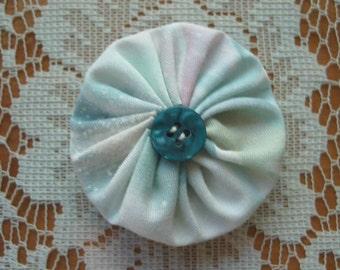 YoYo Hair Clip Free Shipping Pastel Colors Blue Button