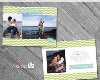 INSTANT DOWNLOAD - Believe Christmas Card No. 2 - 5x7 photo card templates for photographers on WHCC and Millers Lab Specs