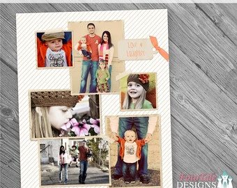INSTANT DOWNLOAD - Love and Laughter 16x20 Collage AND Blog Board, custom photo templates