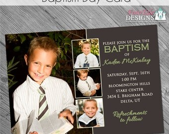 INSTANT DOWNLOAD -Baptism Day Invitation- custom 5x7 photo template