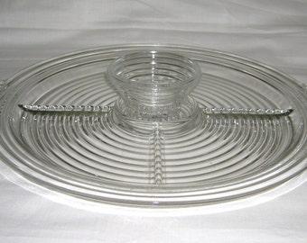 Vintage Anchor Hocking 5 Part Relish  Buffet Platter Tray Manhattan Pattern Complete