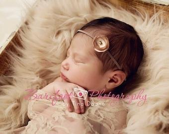 champagne baby headband, baby headband, dainty headband, newborn head band