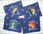 Harry Potter Fabric Coin Cosmetic Purse Pouch with Zippered Closure - Four to Choose From