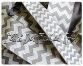 "Grey Chevron Glitter ribbon 7/8"" or 1.5"" You Choose Width  grosgrain blow craft supply ribbon- US designer trim"