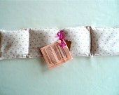 """Peppermint  Essential Oil Aroma Therapeutic Rice Pad - Hot or Cold Therapy - 4-1/2"""" wide x 19-3/4"""" long - Pink Floral Flannel"""