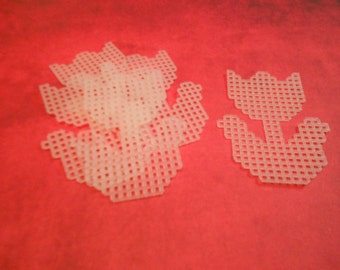 plastic canvas tulip cutouts (set of 5)