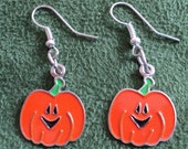 Pumpkin Earrings, Fall Earrings, Autumn Earrings, Pumpkin Jewelry, Pumpkin Patch