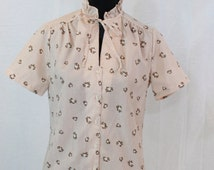 SALE ITEM Vintage Short Sleeved Blouse by Judy Bond