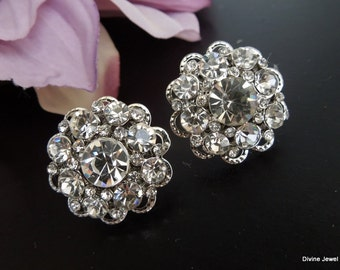 Bridal Earrings, Bridal Rhinestone Earrings, Stud Bridal Earrings, Rhinestone Earrings, Statement Bridal Earrings, crystal Earrings, SUSAN