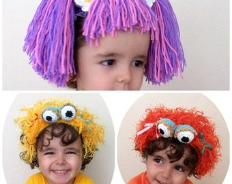 Abby(Inspired) and Zoe headband-Sesame Street Abby Cadabby inspired and Zoe inspired Headband-2 pcs hair band-sesame street characters