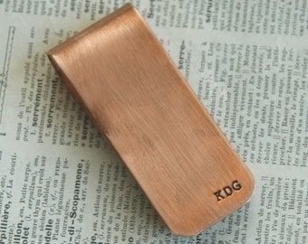 Graduation Gift-  Custom Copper Money Clip - Father's Day - Wedding Party Gift - Best Man Gift - Groom Gift - Father of Bride - Groom Dad